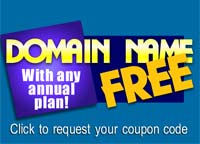 Free Domain with any annual plan!